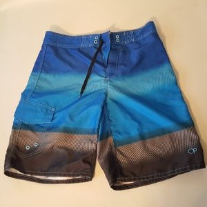 O.P. Mens 30 Board Shorts Swim Trunks Skater Blue